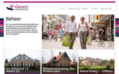 Screenshot of Home Page danesmakelaardij.nl - Danes Makelaardij en Assurantiën - captured June 3, 2017
