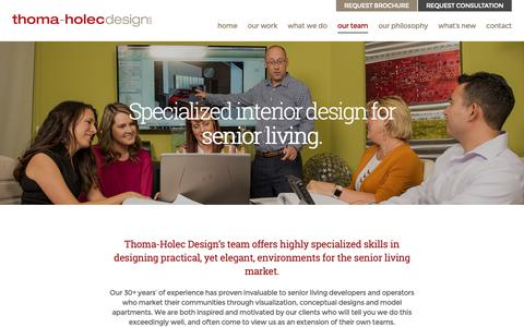 Screenshot of Team Page thoma-holecdesign.com - Our Team | Award-winning interior designers specializing in senior housing - captured Oct. 21, 2018