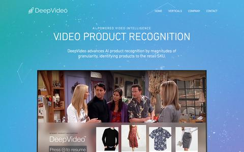 Screenshot of Home Page deepvideo.tv - AI Video Intelligence | DeepVideo - captured July 8, 2018