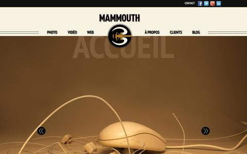 Screenshot of Home Page mammouth3.com - Mammouth3 - Photographie | Video | Web - captured Sept. 17, 2015