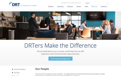 Screenshot of Team Page drtstrategies.com - About Us | Our People | DRT Strategies - captured July 19, 2018