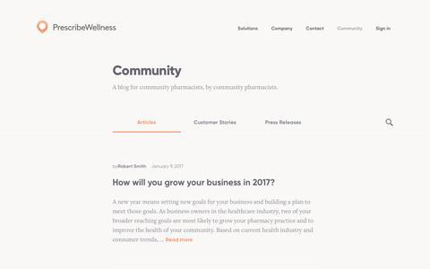 Screenshot of Blog prescribewellness.com - PrescribeWellness Blog - PrescribeWellness Blog - captured Feb. 1, 2017