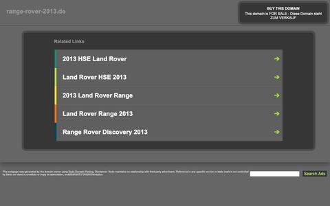 Screenshot of Home Page range-rover-2013.de - range-rover-2013.de - This website is for sale! - range-rover-2013 Resources and Information. - captured Oct. 23, 2018