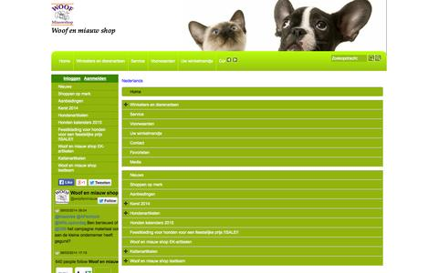 Screenshot of Site Map Page Menu Page woofenmiauwshop.nl - Map - captured Oct. 25, 2014