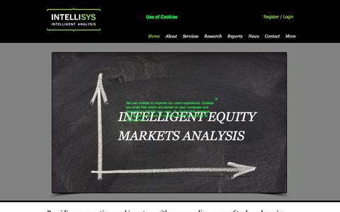 Screenshot of Home Page intellisys.uk.com - Fusion Analysis, Intellisys Intelligent Analysis - captured Oct. 15, 2017