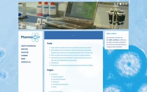 Screenshot of Site Map Page pharmacell.nl - Sitemap - Pharmacell - captured Sept. 29, 2014