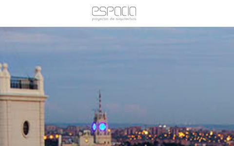 Screenshot of Home Page espacia.es - ESPACIA - Proyectos de Arquitectura e Interiorismo en Madrid - captured Jan. 29, 2016