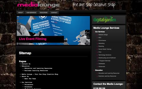 Screenshot of Site Map Page themedialounge.com - Sitemap | the Media Lounge // - captured Oct. 1, 2014