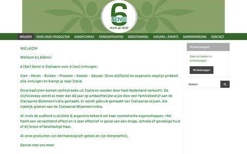 Screenshot of Home Page 6sensi.nl - WELKOM   6Sensi-shop - captured Nov. 15, 2017