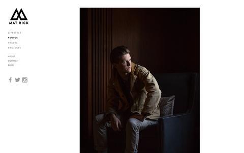 Screenshot of Team Page matrickphoto.com - People — Mat Rick Photography - captured Feb. 12, 2016