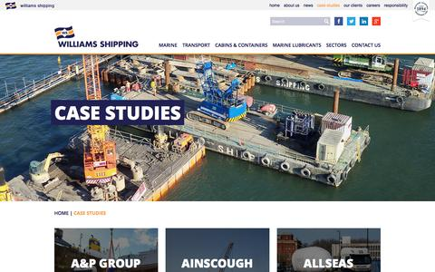 Screenshot of Case Studies Page williams-shipping.co.uk - Case Studies | Williams Shipping - captured Dec. 12, 2016