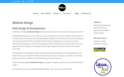 Website Design | Nevada Website Design | Henderson | Las Vegas