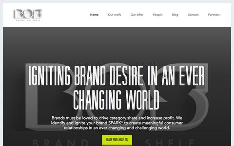 Screenshot of Home Page brandonshelf.com - Brand On Shelf - captured Feb. 7, 2016