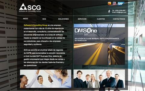 Screenshot of Home Page scgint.com - SAP, Software and Consulting Group PYMES - captured Oct. 8, 2014
