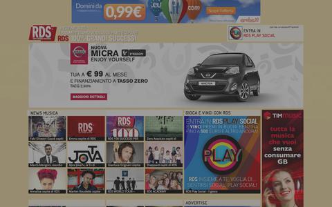 Screenshot of Press Page rds.it - News e Gossip, curiosità e anteprime dal mondo dei VIP - captured Oct. 27, 2014