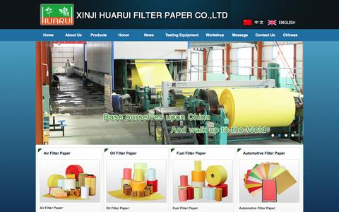 Screenshot of Home Page Site Map Page huaruilz.com - Filter Paper,Air Filter Paper,Oil Filter Paper,Fuel Filter Paper,China Filter Paper Factory-Xinji Huarui Filter Paper Co.,Ltd - captured Oct. 1, 2014