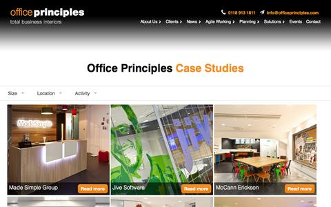 Screenshot of Case Studies Page officeprinciples.com - Case Studies Archive | Office Principles - captured Nov. 5, 2014