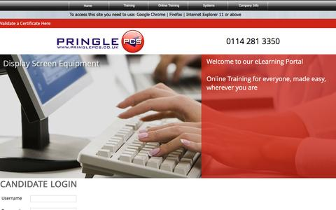 Screenshot of Trial Page pringlepcs.co.uk - Online Training Courses - Pringle PCS - captured July 16, 2016