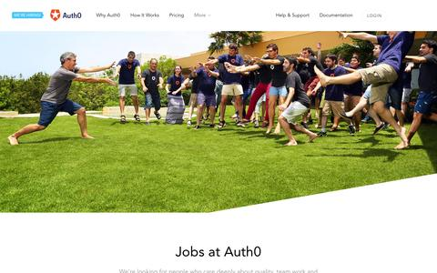 Screenshot of Jobs Page auth0.com - Jobs - Auth0 - captured Nov. 13, 2015