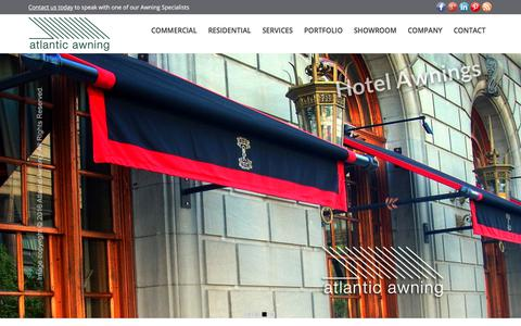 Screenshot of Home Page atlantic-awning.com - Commercial and Residential Awnings | Boston MA | Atlantic Awning - captured July 31, 2018