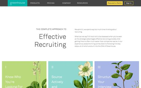 Complete Approach to Effective Recruiting | Greenhouse