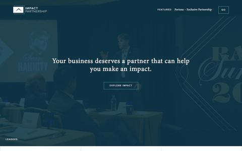 Screenshot of Home Page impactpartner.com - Home | The Impact Partnership - captured Feb. 15, 2016