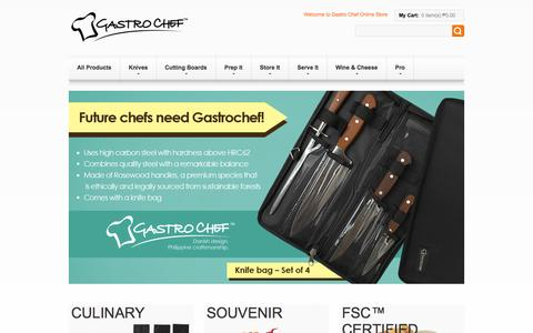 Screenshot of Home Page gastro-chef.com - Kitchen & Lifestyle Accessories Made from Wood Species | Gastro Chef - captured Sept. 29, 2014