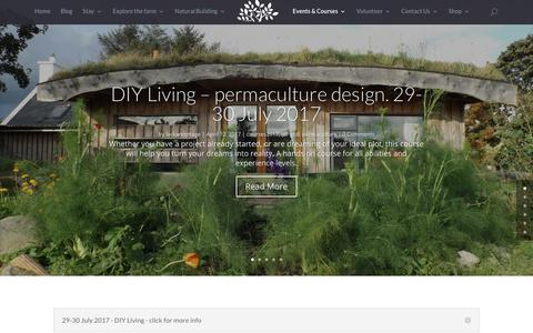 Screenshot of Terms Page lackancottage.co.uk - Events and Courses - Lackan Cottage Farm - Permaculture off grid smallholding - captured July 12, 2017