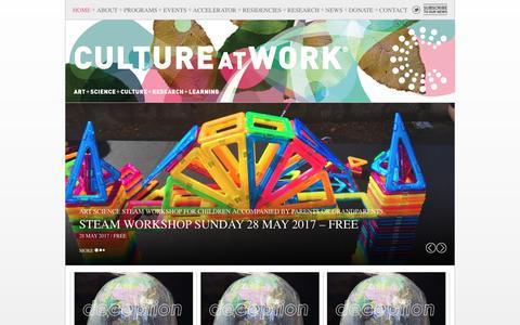 Screenshot of Home Page cultureatwork.com.au - CULTURE AT WORK : Culture at Work - captured May 23, 2017