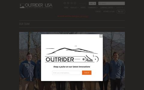 Screenshot of Team Page outriderusa.com - Our Team                           | Outrider USA - captured May 20, 2018