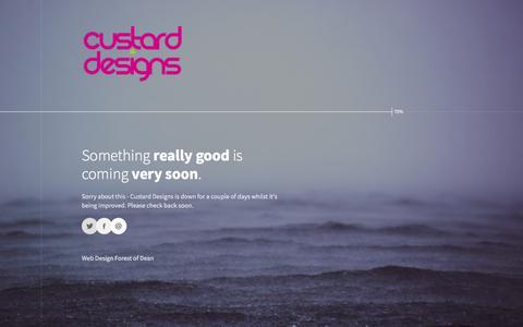 Screenshot of Home Page custarddesigns.com - Custard Designs - captured July 24, 2018