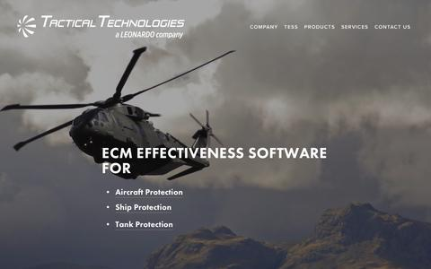 Screenshot of Home Page tti-ecm.com - Tactical Technologies Inc. - captured Oct. 18, 2018