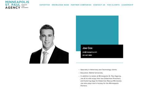 Screenshot of Team Page mspagency.com - Leadership — Minneapolis St. Paul Agency - captured Dec. 20, 2018