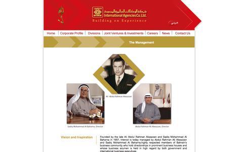 Screenshot of Team Page alwazzangroup.com - International Agencies co.Ltd. Kingdom of Bahrain. - captured Oct. 7, 2017