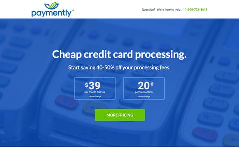 Screenshot of Landing Page paymently.com - Cheap Credit Card Processing Rates | Paymently - captured June 12, 2016
