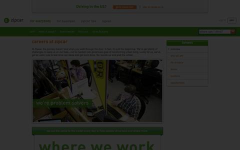 Screenshot of Jobs Page zipcar.co.uk - Careers at Zipcar | Zipcar UK - captured Nov. 15, 2018