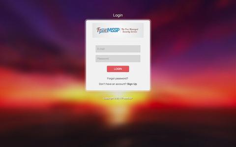 Screenshot of Login Page freemssp.com - FreeMSSP login - captured Oct. 29, 2014