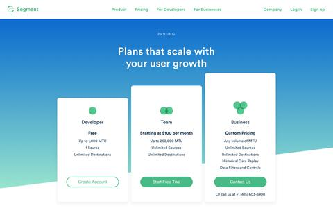 Pricing that fits your needs · Segment