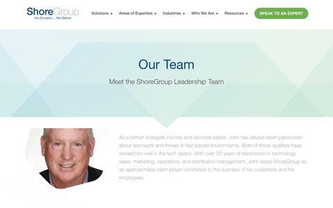 Screenshot of Team Page shoregroup.com - Our Team - captured Sept. 20, 2018