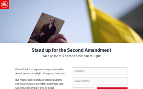 Screenshot of Landing Page gop.com - Stand up for the Second Amendment | GOP - captured Aug. 17, 2016