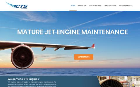 Screenshot of Home Page ctsengines.com - CTS Engines - captured July 15, 2018