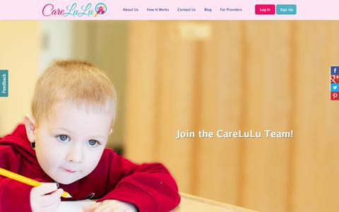 Screenshot of Jobs Page carelulu.com - Join our Team! - CareLuLu - captured Dec. 17, 2014