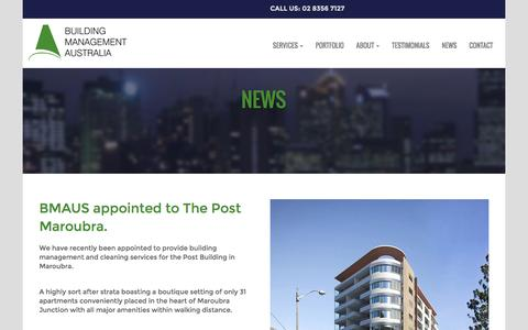 Screenshot of Press Page bmaus.com.au - NEWS - Building Management Australia - captured Nov. 23, 2016