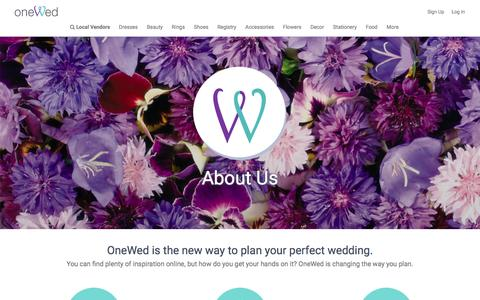 Screenshot of About Page onewed.com - About OneWed - captured Dec. 4, 2016