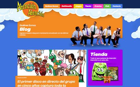 Screenshot of Blog atencionatencion.com - Blog   Atención Atención - captured Oct. 4, 2014