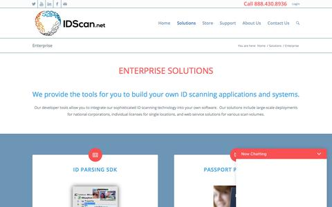 Screenshot of Developers Page idscan.net - Enterprise ID Scanning Solutions for your company - captured June 26, 2017
