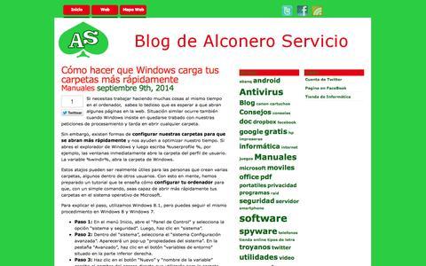 Screenshot of Blog alconeroservicio.es - Alconero Servicio   » Informática, Tecnología, Internet - captured Sept. 30, 2014
