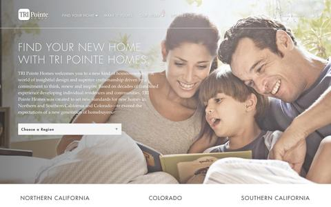 Screenshot of Home Page tripointehomes.com - New Homes in California & Colorado   TRI Pointe Homes - captured Oct. 15, 2015
