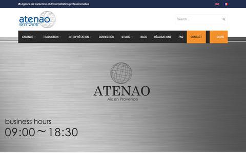Screenshot of Contact Page atenao.com - Contact - Atenao - captured Oct. 9, 2017