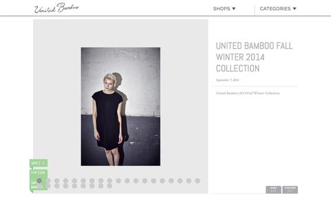Screenshot of unitedbamboo.com - United Bamboo Fall Winter 2014 Collection  |  United Bamboo - captured March 19, 2016
